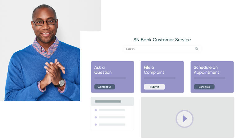 Banking customer service dashboard