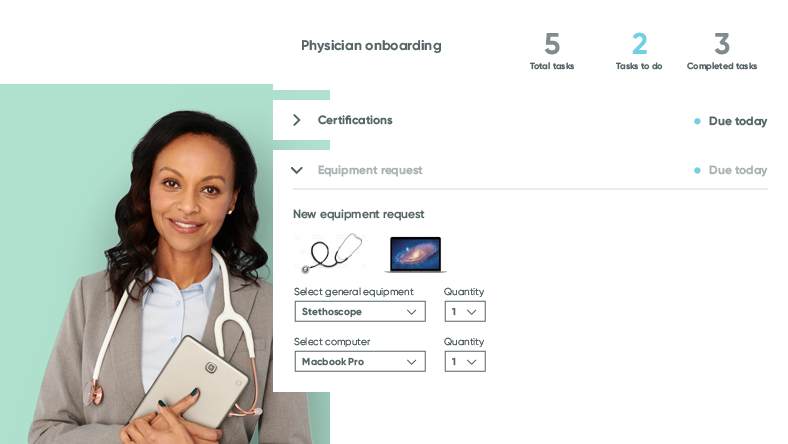 Streamlined, HIPAA compliant cloud medical services and physician onboarding