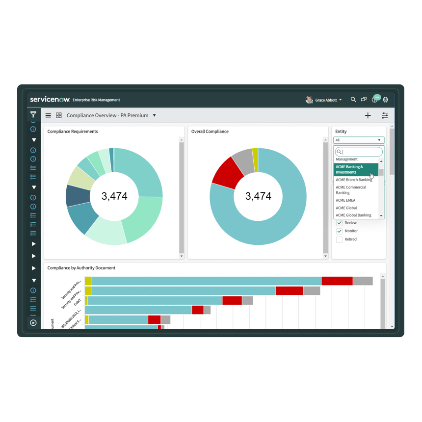 A portal with interactive dashboards