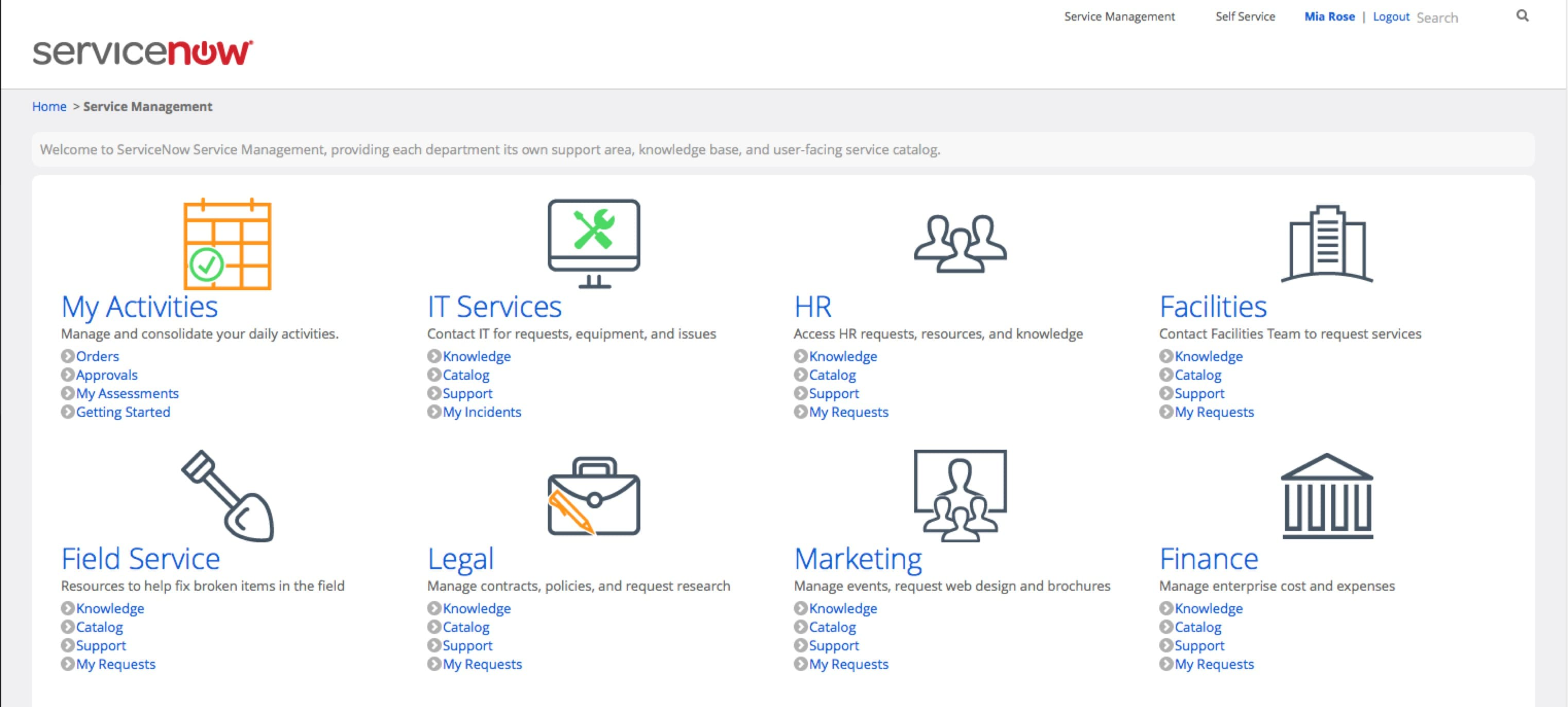 Product Screenshots Servicenow